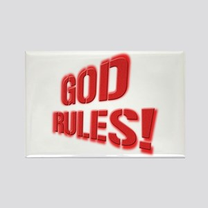 God Rules! Rectangle Magnet