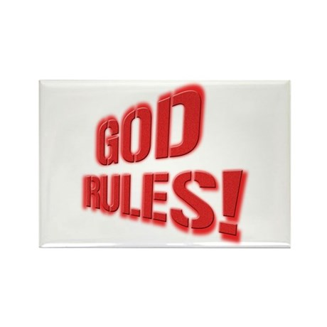 God Rules! Rectangle Magnet