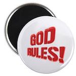 """God Rules! 2.25"""" Magnet (10 pack)"""