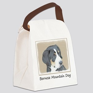 Bernese Mountain Dog Puppy Canvas Lunch Bag