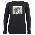 Bernese Mountain Dog Pup Plus Size Long Sleeve Tee
