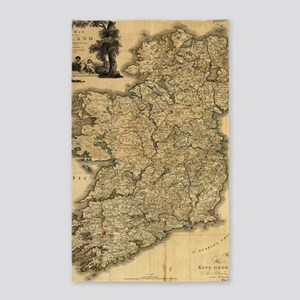 Vintage Map of Ireland (1797) Area Rug