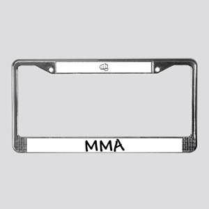 MMA Fist License Plate Frame