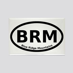Blue Ridge Mountains Euro Rectangle Magnet