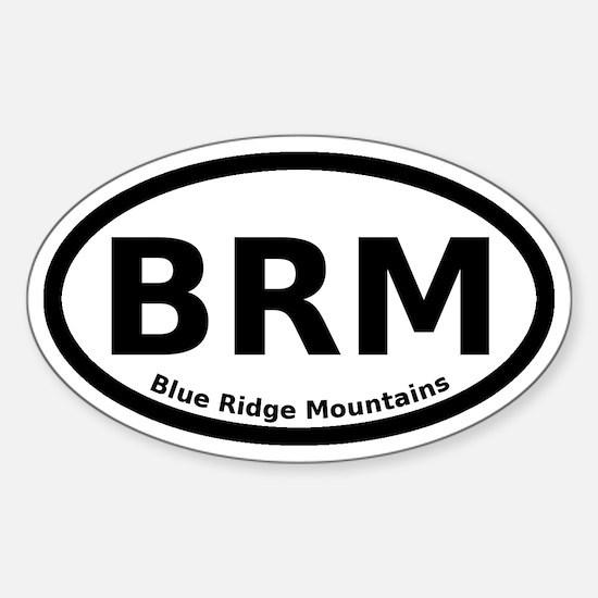 Blue Ridge Mountains Euro Sticker (Oval)