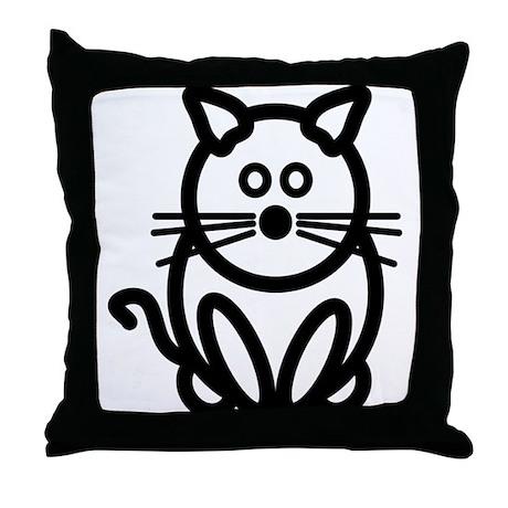 Just The Cat Throw Pillow