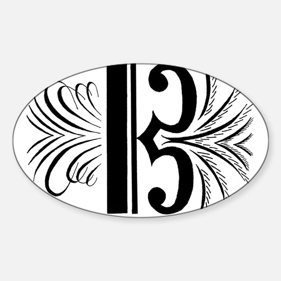 Cute C clef Sticker (Oval)