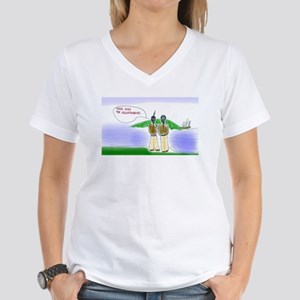 There Goes The Neighborhood Women's V-Neck T-Shirt