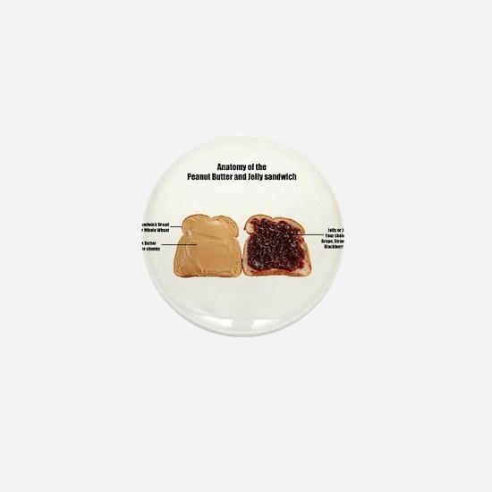Unique Peanut butter and jelly Mini Button
