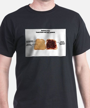 Anatomy of the Peanut butter and jelly sand T-Shir