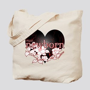 Twilight Newborn Heart Flowers by Twibaby Tote Bag