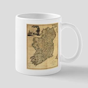 Vintage Map of Ireland (1797) Mugs