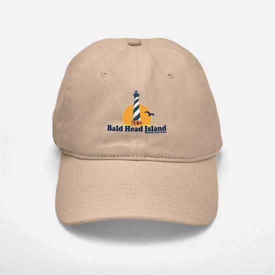 Bald Head Island NC - Lighthouse Design Baseball Baseball Cap