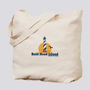 Bald Head Island NC - Lighthouse Design Tote Bag