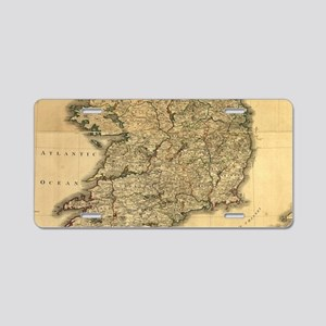 Vintage Map of Ireland (179 Aluminum License Plate
