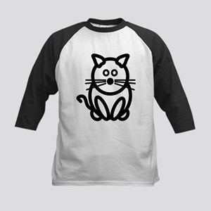 Just The Cat Front and Back Kids Baseball Jersey