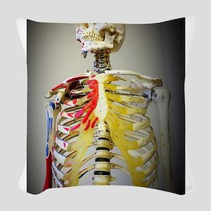 Skeleton Named Bob Woven Throw Pillow