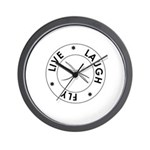 Live. Laugh. Fly. Wall Clock