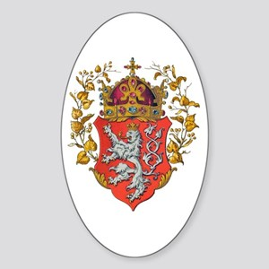 Bohemian King Coat of Arms Sticker (Oval)