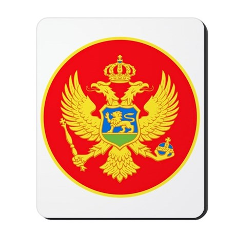 Montenegro Coat of Arms Mousepad