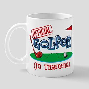 Boy Golfer In Training Mug