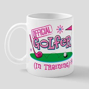 Girl Golfer In Training Mug