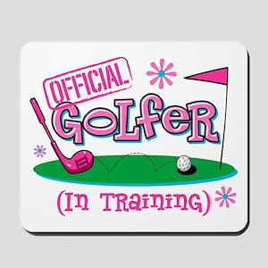 Girl Golfer In Training Mousepad