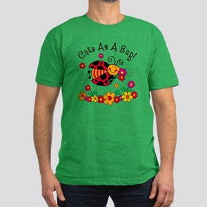 Ladybug Cute As A Bug Men's Fitted T-Shirt (dark)