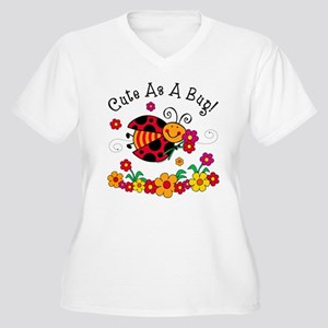 Ladybug Cute As A Bug Women's Plus Size V-Neck T-S