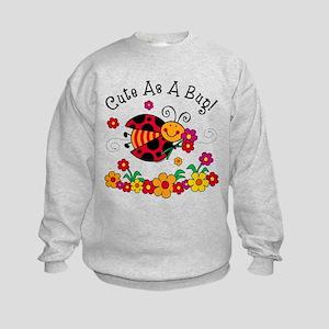 Ladybug Cute As A Bug Kids Sweatshirt