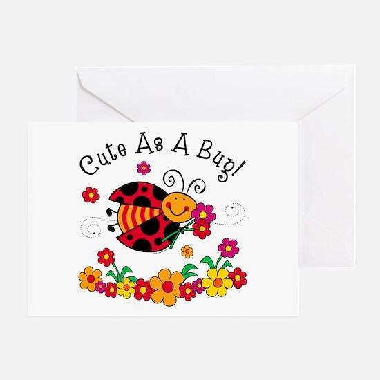 Ladybug Cute As A Bug Greeting Card