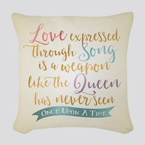 OUAT Love Expressed Through Song Woven Throw Pillo