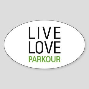 Live Love Parkour Sticker (Oval)