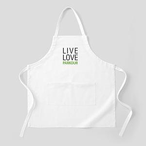 Live Love Parkour Apron