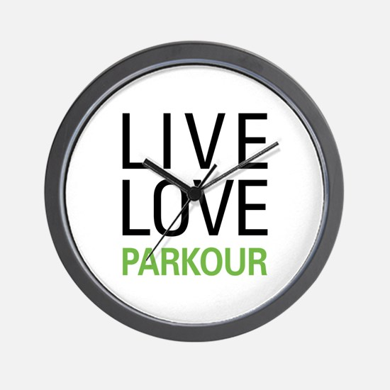 Live Love Parkour Wall Clock