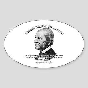 Ralph Waldo Emerson 05 Oval Sticker