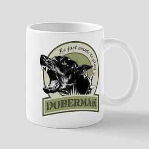Doberman army green Mug