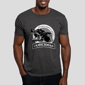 Doberman black/white Dark T-Shirt