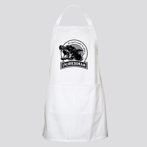 Doberman black/white Apron