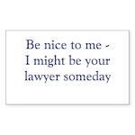 Lawyer Someday Sticker (Rectangle 10 pk)