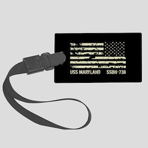 USS Maryland Large Luggage Tag