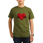 Mom Flourish Heart Organic Men's T-Shirt (dark)