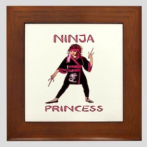 Ninja Princess Framed Tile