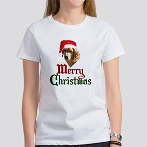 Christmas Golden Retriever Women's T-Shirt