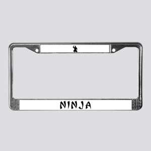 NINJA WARRIOR License Plate Frame