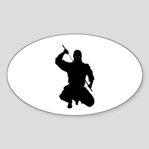 NINJA WARRIOR Sticker (Oval)
