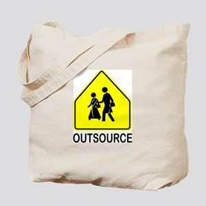 Caution Outsource Ahead Tote Bag