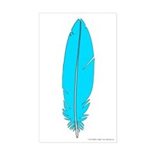 Blue Feather Sticker (Rectangle)