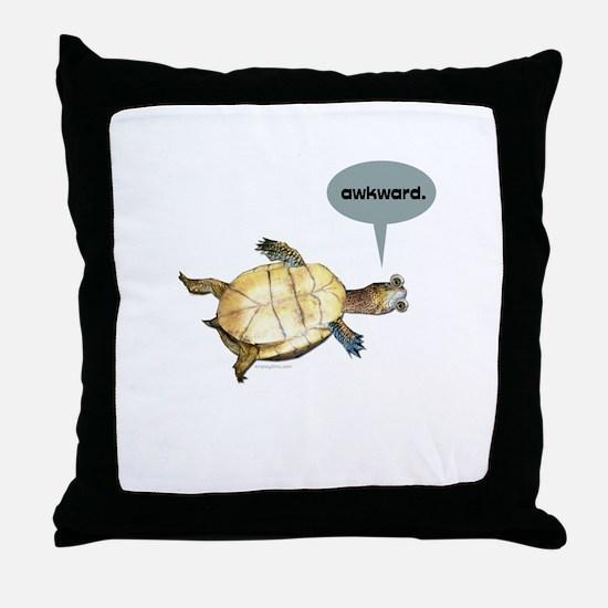 Awkward Turtle Throw Pillow