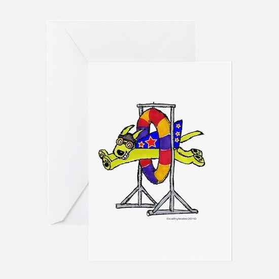 Super Doggie Jump Greeting Card